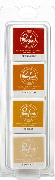 Pinkfresh Studio Premium Dye Cube Ink Pads 4 Colors - Indian Summer