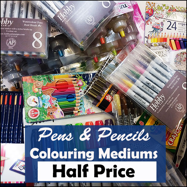 50% off Pens and Markers
