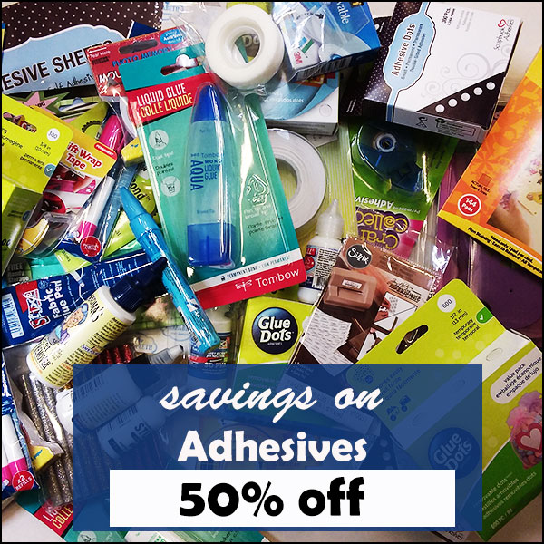 50% off Adhesives
