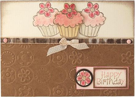 Embossed Happy Birthday by Louise Molesworth