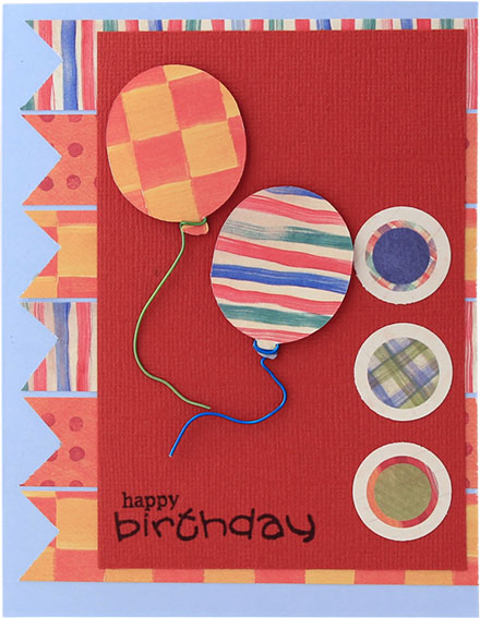 Birthday Balloons by Lady Stampalot