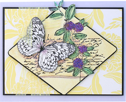 Butterfly Collage from Blooming Garden Board by Penny Black