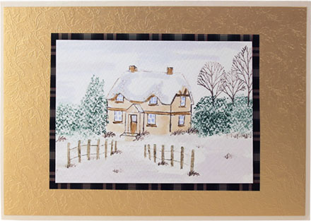 Winter Cottage by Gina Martin