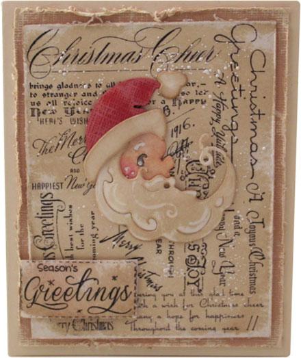 Season's Greetings Santa by Fleur Pearson