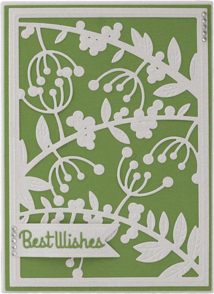 mistletoe card by Louise Roache