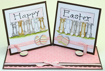Happy Easter - Double Easel by Sara Rosamond
