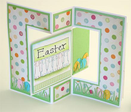 Happy Easter Bunnies - Swivel Back by Sara Rosamond