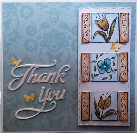 Thank You Flower Trio by Sara Rosamond