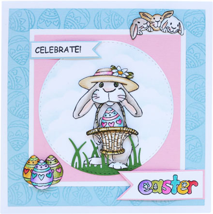 Easter Bunny with Basket by Sara Rosamond