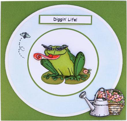 Diggin' Life Frog by Sara Rosamond